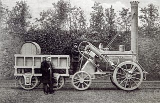 George Stephenson's Rocket, one of the first railway engines