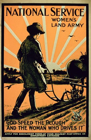 A 1917 recruitment poster for the Women's Land Army