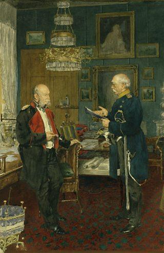 Otto von Bismarck and Prussian King Wilhelm I