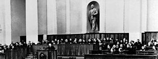 Krushchev addresses Communist Party congress