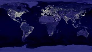A view of the world at night
