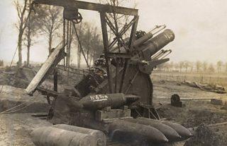 Heavy artillary equipment near Ypres