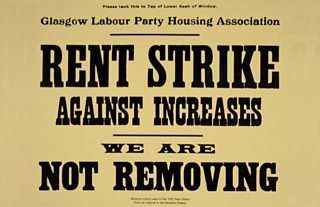 Rent strike posters hit out at high rents