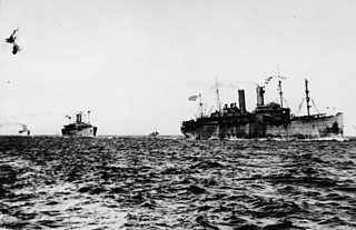 A British destroyer patrolling the North Sea
