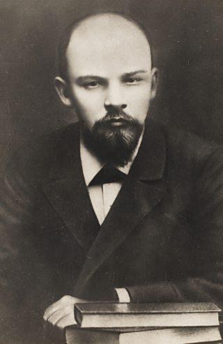 Balding man with goatee beard