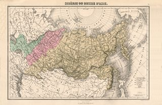 Period map of eastern Russia showing the location of Siberia