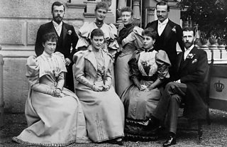 Wedding group of 19th century nobles