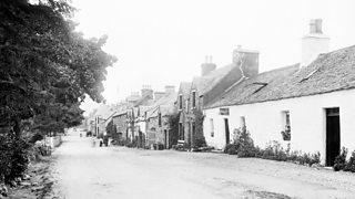 A street of cottage houses in Strathyre village 1899