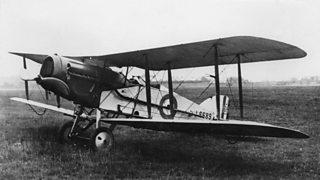 A World War One British Bristol fighter biplane