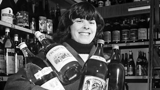 A woman in an off licence
