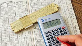 An old logarithm table and modern calculator