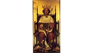 Portrait King Richard II of England on a throne (1390)