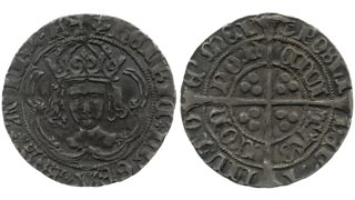 Coin with Henry VIII's face