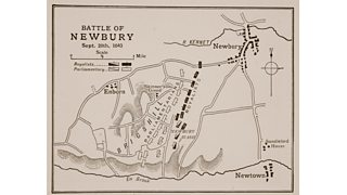 Map of the Battle of Newbury (20th September 1643)