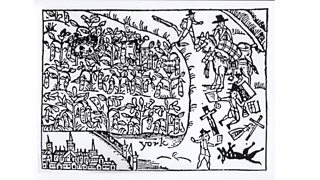 Prince Rupert hiding in a Bean Field at the Battle of Marston Moor (2nd July 1644)