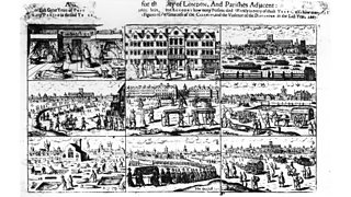 Account of the plague from an engraving (1693) by Johyn Dunstall