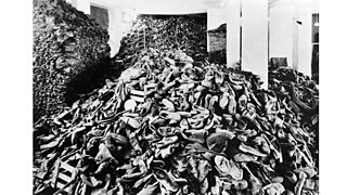 Auschwitz's concentration camp: the hangar of shoes.