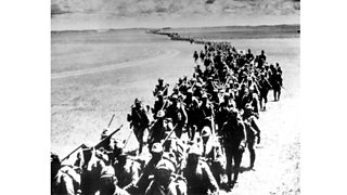 Japanese soldiers marching
