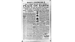 The Daily Express, 15th August 1945, announcing Japanese surrender