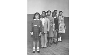 Portrait of the children involved in the landmark Civil Rights lawsuit 'Brown V. Board of Education'.