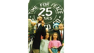 Gerry Adams addressing crowds following IRA Ceasefire Announcement (31 August 1994)