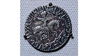 Seljuk zodiac coin from the ancient city of Siwas, Turkey