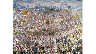 Major battle between Christians and Muslims fought near Granada, Spain (15th century)