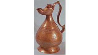Copper jug from Khorasan, Iran (1218)