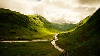 U shaped valley in Hola Valley, Norway