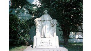 A statue of Gregor Mendel