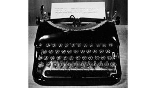 An old-style typewriter