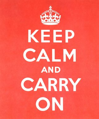 The Keep Calm and Carry On poster