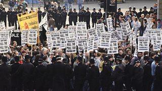 Poll Tax Riots in London, 1990