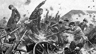 Artist's impression of fighting during the Russo-Japanese war
