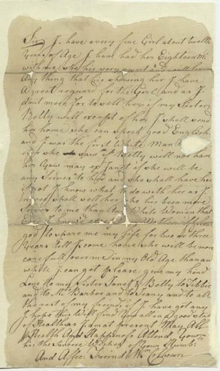 Letter from William Colhoun