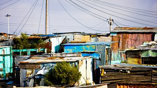 Shanty town housing in South Africa