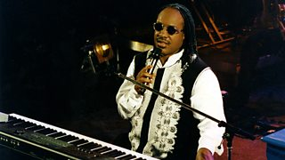 Stevie Wonder on synthesiser