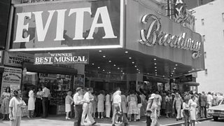 Evita at Manhattan's Broadway Theatre, New York