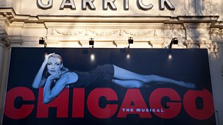 A poster of the musical Chicago