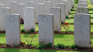 Graves of British soldiers killed in World War Two