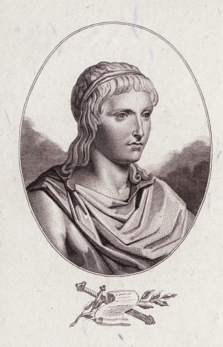 19th-century engraving of Suetonius.