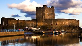 Carrickfergus Castle in County Antrim, Northern Ireland, built in Norman times.
