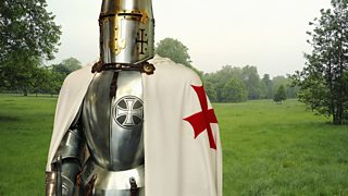 Crusader wearing armour.