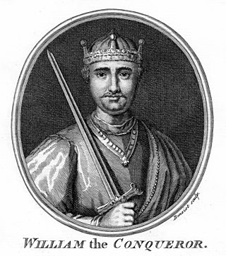 Portrait of William I of England, also known as William the Conqueror.