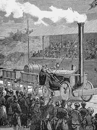 """George Stephenson's locomotive, """"Rocket"""""""