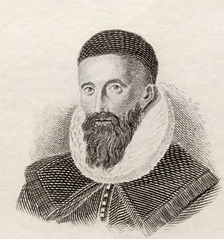 John Napier of Merchiston, 8th Laird of Merchistoun, 1550 to 1617. Scottish mathematician, physicist, astronomer and astrologer. From Crabb's Historical Dictionary published 1825.