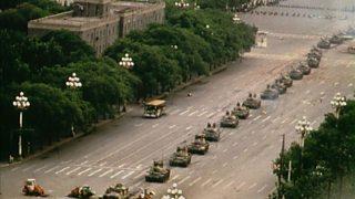 Tanks in Tiananmen Square, 1989