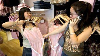 Young Chinese women shopping
