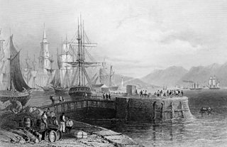 An engraving of old Port Glasgow