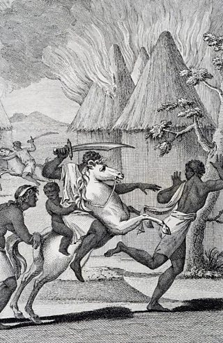 Moors capturing black people to make them slaves